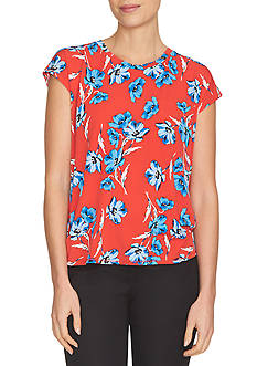 CeCe Floral Dance Printed Tee