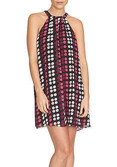 CeCe Dot Print Halter Dress