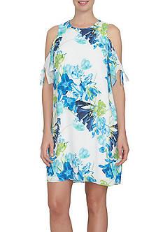 CeCe Whisper Bloom Lace Up Dress