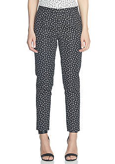 CeCe Ditsy Leaf Slim Pants