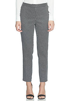 CeCe Geo Stretch Jacquard Slim Pants