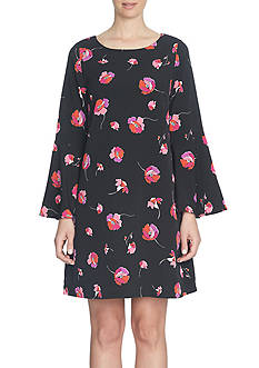 CeCe Floral Melody Flared Sleeve Dress