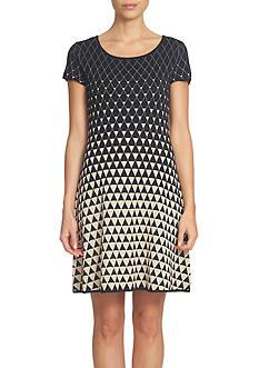 CeCe Birdseye Jacquard Sweater Dress