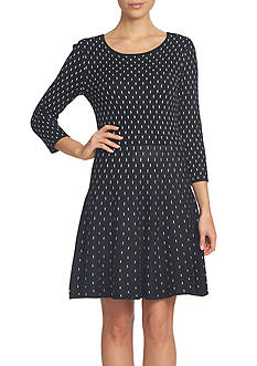 CeCe Dot Jacquard Sweater Dress