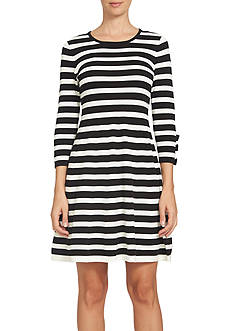 CeCe Jersey Stripe Sweater Dress