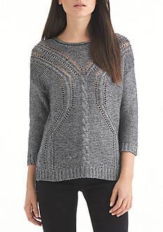 Nine West Jeans Abigail Cable Knit Sweater