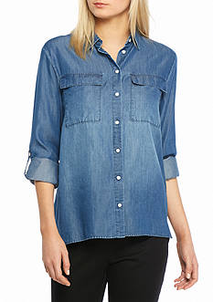 Nine West Jeans Bree Roll Sleeve Top