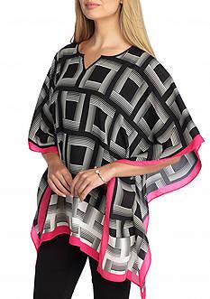 Kaari Blue™ Square Print Woven Poncho