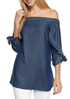 Kaari Blue™ Off Shoulder Bow Sleeve Top