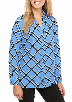 Kaari Blue™ Long Sleeve Pleated Tunic