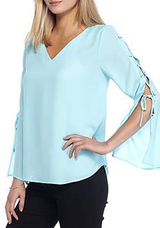 Kaari Blue™ Lace-Up Bell Sleeve Top
