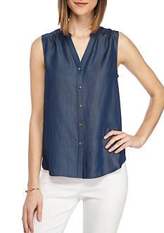 Kaari Blue™ Sleeveless Button Up Top