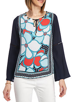 Kaari Blue™ 3/4 Sleeve Cutout Top