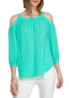 Kaari Blue™ Woven Cold Shoulder Blouse