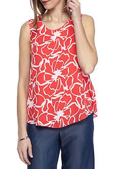 Kaari Blue™ Sleeveless Cutout Shoulder Tank
