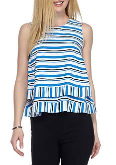 Kaari Blue™ Sleeveless Split Back Woven Top