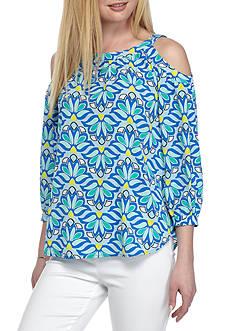 Kaari Blue™ Print Tie Back Blouse