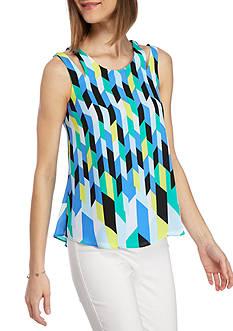 Kaari Blue™ Sleeveless Cut Out Shoulder Tank