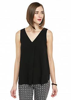 Kaari Blue™ Solid Woven to Knit Tank