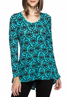 Kaari Blue™ Zip Back Printed Tunic
