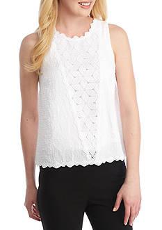 Kaari Blue™ Textured Sleeveless Lace Top