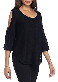 Kaari Blue™ Textured Cold Shoulder Top