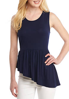 Kaari Blue™ Knit Asymmetrical Top
