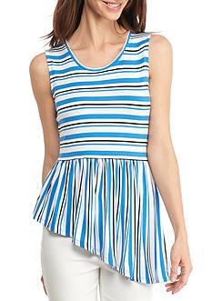 Kaari Blue™ Asymmetrical Stripe Swing Top