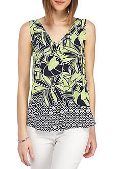 Kaari Blue™ Sleeveless Asymmetrical V-Neck Top