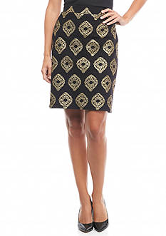 Kaari Blue™ Foil Print Pencil Skirt