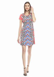 Kaari Blue™ Panel Print Knit Dress