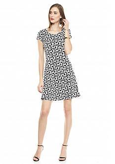 Kaari Blue™ Printed Short Sleeve Swing Dress