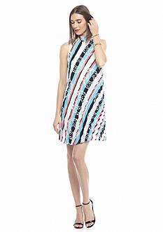 Kaari Blue™ Printed Pleated Swing Dress