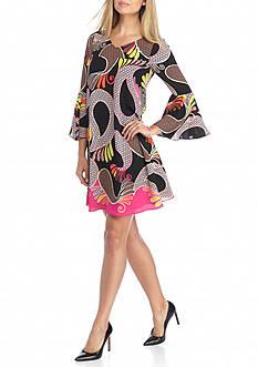Kaari Blue™ Bell Sleeve A-Line Dress