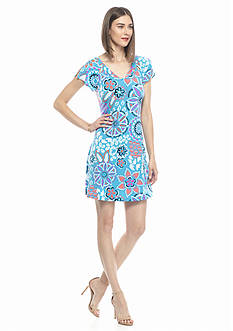 Kaari Blue™ Florence Medallion Cutout Swing Dress