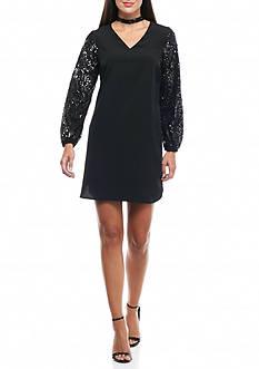Kaari Blue™ Sequin Sleeve Dress