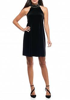 Kaari Blue™ Embellished Mock Neck Dress