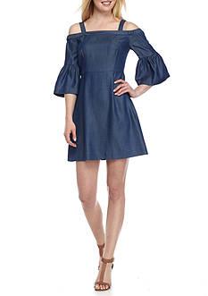 Kaari Blue™ Off The Shoulder Chambray Dress