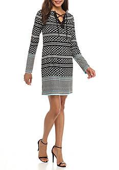 Kaari Blue™ Lace-Up Ponte Dress