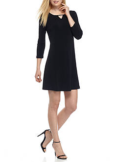 Kaari Blue™ Three Quarter Sleeve Jersey Knit Dress