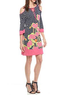 Kaari Blue™ Cold Shoulder Contrast Dress