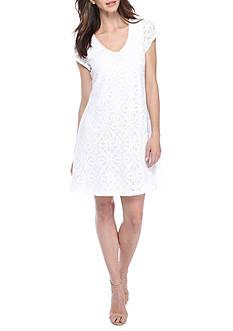 Kaari Blue™ Short Sleeve Lace Swing Dress