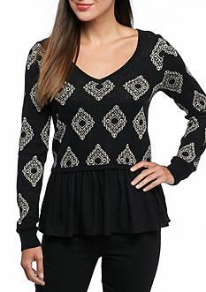 Kaari Blue™ Mix Media Foil Sweater