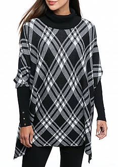 Kaari Blue™ Plaid Cowl Neck Dolman Sleeve Sweater