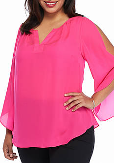 Kaari Blue™ Plus Size Cold Shoulder Top