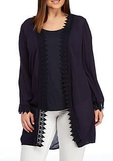 Kaari Blue™ Plus Size Long Woven Topper