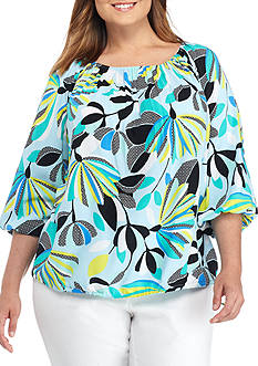 Kaari Blue™ Plus Size Printed Top