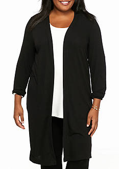 Kaari Blue™ Plus Size Split Back Knit Duster