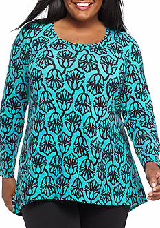 Kaari Blue™ Plus Size Zip Back Swing Tunic