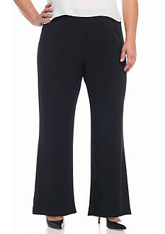 Kaari Blue™ Plus Size Crepe Wide Leg Pants